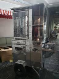 Maquina de churrasco grego com porta de vidro alegrete