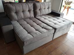 Sofa retratil reclinavel super luxuoso/veludo fino/ 2.299R$