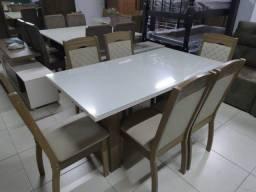 Mesa de Jantar Corolla 6 Cadeiras -- Entrega e montagem Na Hora