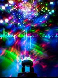 Disco Luz de Festa Lâmpada Usb Mini LED RGB*