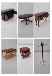 Móveis em Miniaturas da Coleção Casa Vitoriana da Editora Planeta de Agostini