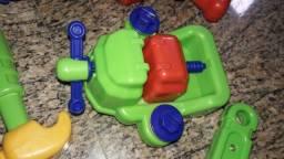 Kit ferramenta calesita brinquedo menino