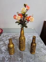 Conjunto de garrafas de decoração