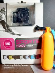 CÂMERA SPORTS 1080P FÚLL HD A PROVA D'ÁGUA AGUA  ( BRINDE:  BÓIA DE MERGULHO )