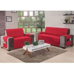 Protetor de sofá 2 e 3 lugares - vermelho