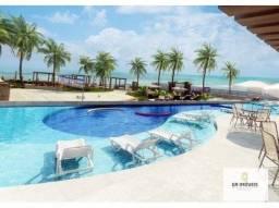 Beira mar pé na areia de Riacho Doce 1 e 2 quartos varanda, lazer completíssimo só 364mil!