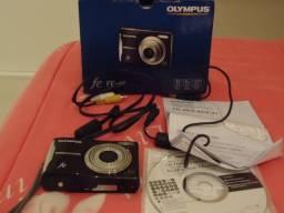 Máquina fotográfica digital olympus fe-46 com defeito