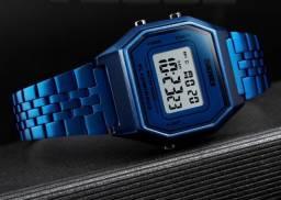 Relógio Retrô Azul