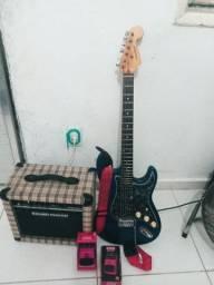 Guitarra + caixa e pedal