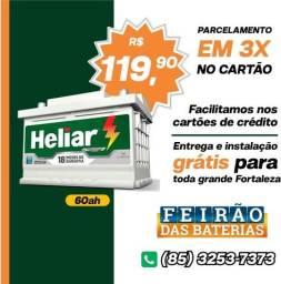 Título do anúncio: Bateria 60Ah Bateria Heliar com Frete Instalação Grátis em Fortaleza Bateria Bateria