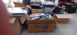DVD, filmes diversos, embalagens plásticas e acrílicas de dvd e cd