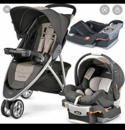 Carrinho de bebê + bebê conforto Chicco Viaro