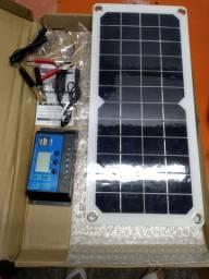 Painéis Solar Fotovoltaica com Controlador de carga 10A Off Grid