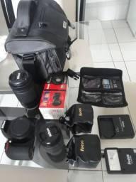 Kit fotografico completo. D3500 novo
