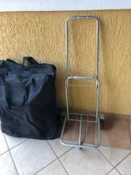 Carrinho para sacola, bolsa ou mala