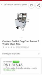 Carrinho De Hot Dog Com Prensa.