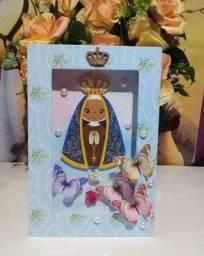 Quadrinho e caixinhas Nossa Senhora Aparecida