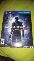 Uncharted 4 (capa de papelao)