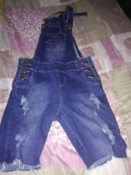 Jardineira jeans  tamanho 42, valor 20reais