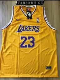 Nba Lakers Regata Masculina Basquete