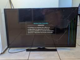 """Smart TV Samsung 40"""" (Tela trincada)"""