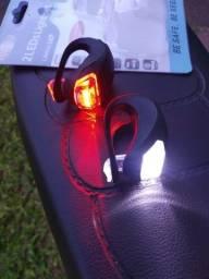 Luz para bicicleta farol super branco e vermelho lanterna de sinalização bike