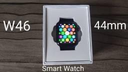 Smartwatch Iwo W46 Top + Pulseira Milanese Preta