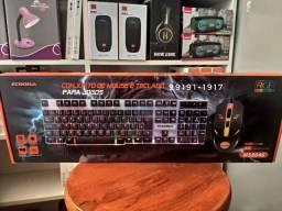 Kit mouse e Teclado gamer RGB ECOODA (entrega grátis)<br>