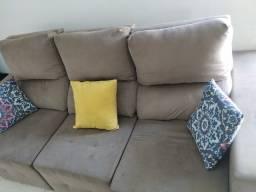 Sofá reclinável - suede