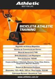 bicicleta modelo training com sensor de pulso e cardio