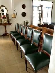 Cadeiras de couro alto padrão