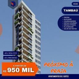 Título do anúncio: Apartamento para Venda em João Pessoa, Tambaú, 3 dormitórios, 3 suítes, 3 banheiros, 2 vag