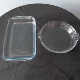 Jogo de assadeira de vidro