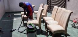 Cadeiras sujas eliminamos TODA sujeira *).