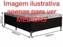 Cama Box Casal 7 cm Espuma - Catálogo completo via whats