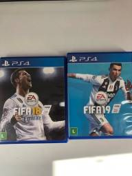 Fifa 18 e Fifa 19 PS4