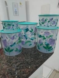 Lindo kit de 5 peças elegantes tupperware
