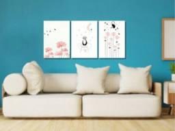 Trio de placas decorativas por R$ 90,00