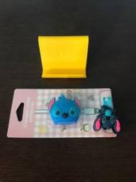 Porta celular, protetor de fio e amarrador de fio
