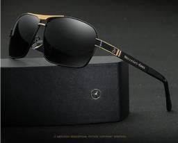d9781f21d0f3c KIT 2 Óculos De Sol Mercedes Benz Metal Polarizado Uv400 Luxo Importados a  Pronta Entrega