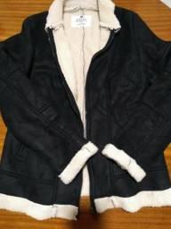 Jaqueta de couro/pele de carneiro