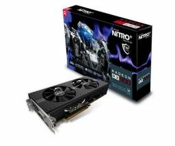 Placa de Video Shapphire Nitro+ Radeon RX 580 8GB 256Bits Gddr5, 11265-01-20G Nova