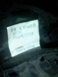 Vendo conjunto de terno e calça risca de giz na cor preto