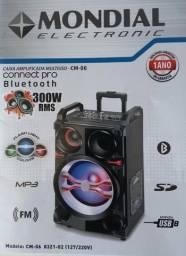 Caixa amplificada Bluetooth Mondial 300 W RMS