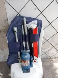 Kit chave de roda +macaco hidráulico 8 t