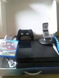 PlayStation 4 500 gb 1 jogo 1 Controle e carregador