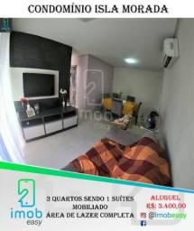 Alugo Isla Morada, 3 quartos sendo 2 suítes, mobiliado