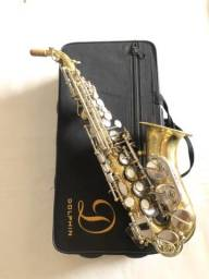 Sax soprano curvo Dholphin zerado.