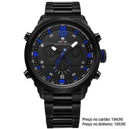 Relógio masculino original Weide exclusivo