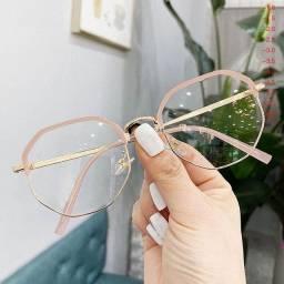 Armação de óculos grau rosa bebê